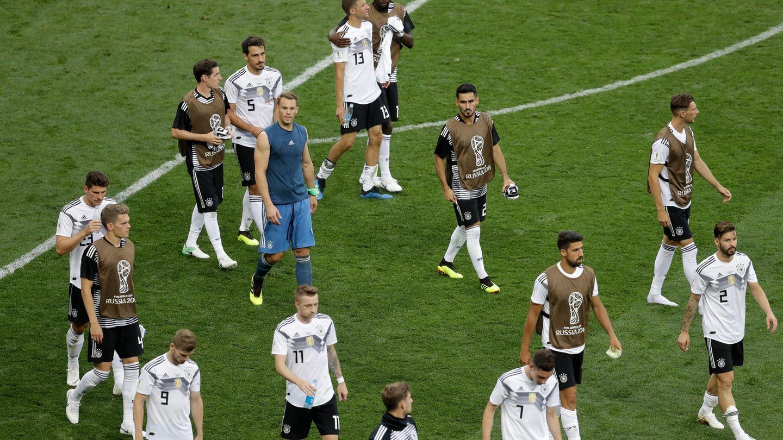 Deutsche Spieler nach Niederlage gegen Mexiko