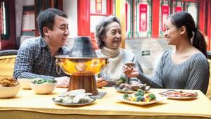 Hot Pot, also chinesisches Fondue, ist in der Stadt Chengdu sehr beliebt