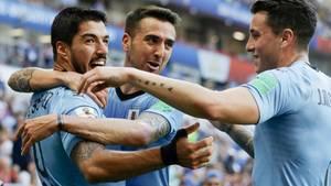 Erzielte gegen Saudi-Arabien sein erstes Turniertor: Luiz Suarez von Uruguay