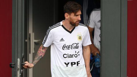Lionel Messi geht zum Training