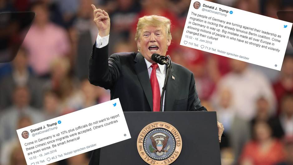 US-Präsident Donald Trump, Tweets