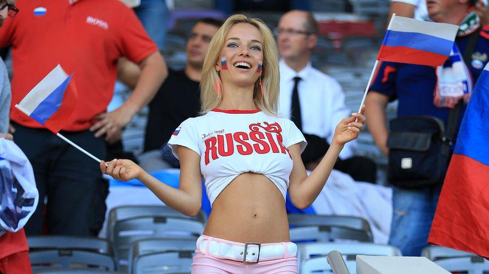 Natalja bei der Fußball-EM 2016 in Frankreich
