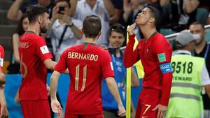 Cristiano Ronaldo und sein Ziegenbart-Jubel