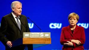 Horst Seehofer (CSU) und Angela Merkel (CDU)