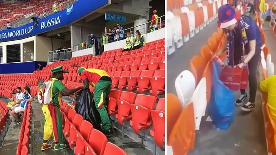 Geniale Aktion nach dem Spiel: Warum die besten WM-Fans aus Japan und Senegal kommen