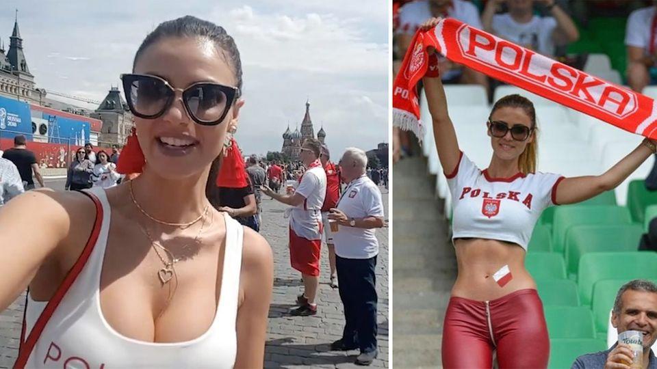 Blondine löst Hype bei WM aus: Wie sich Russlands schönster Fan aus der Porno-Ecke rausreden will