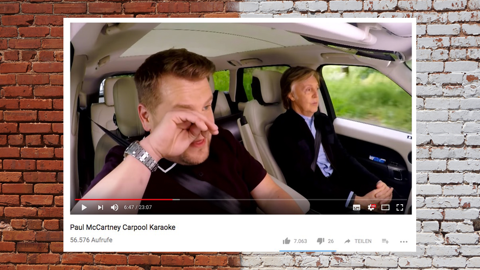 Paul McCartney führt James Corden durch Liverpool - Boulevard