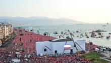 Wahlkampfveranstaltung des türkischen Präsidentschaftskandidaten Muharrem Ince Donnerstagabend in Izmir
