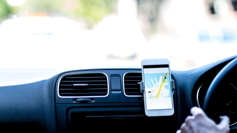 Uber-Fahrer unterwegs
