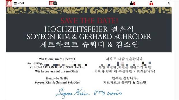 Gerhard Schroder Und Soyeon Kim Planen Ihre Hochzeitsfeier Stern De