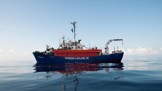 """Ein Schiff der """"Mission Lifeline"""""""