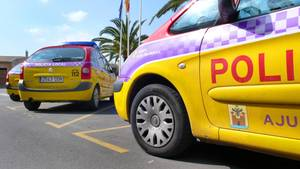 Polizeiautos auf Mallorca