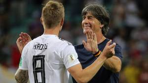 Toni Kroos und Joachim Löw