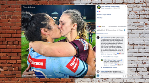 """Australien: """"Widerlicher Lifestyle"""": Dieser Kuss sorgt für Empörung im Netz"""