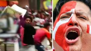 Auch das Ausscheiden bei einer Weltmeisterschaft will gelernt sein. Diese peruanischen Fans beherrschen es jedenfalls nicht.