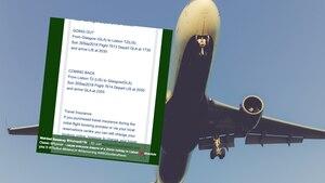Ein Flugzeug und der Tweet einer Britin, die sich über Ryanair beschwert