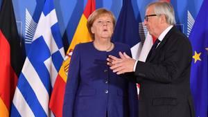 Angela Merkel Juncker