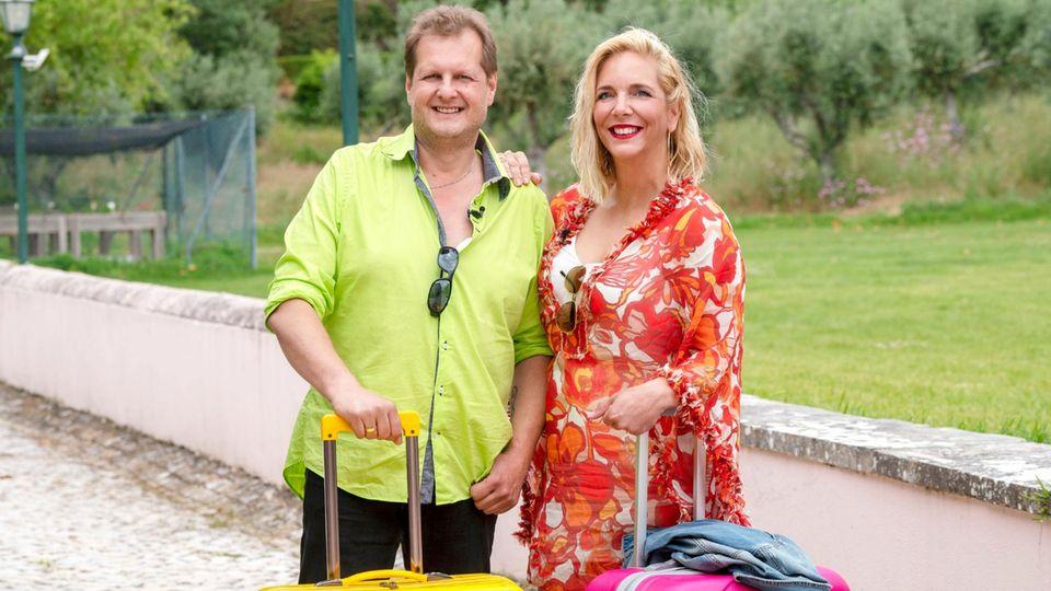 Jens Büchner mit seiner Ehefrau Daniela Büchner