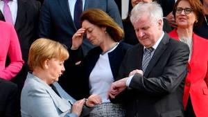 Bundeskanzlerin Angela Merkel und Bundesinnenminister Horst Seehofer