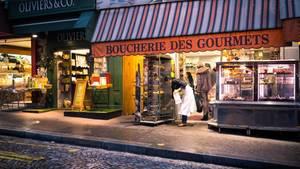 Frankreichs Metzger fürchten sich vor Veganern: Eine Schlachterei in Montmartre, Paris