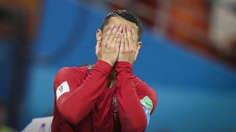 Cristiano Ronaldo nach seinem verschossenenElfmeter