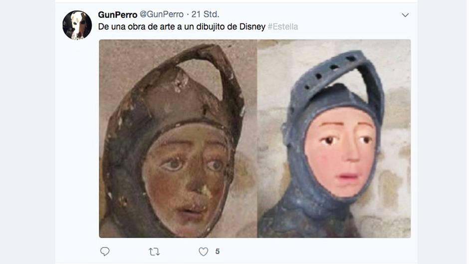 Die Restauration einer Heiligenfigur im spanischen Estrella könnte nun rechtliche Konsequenzen haben – so schlecht ist das Ergebnis