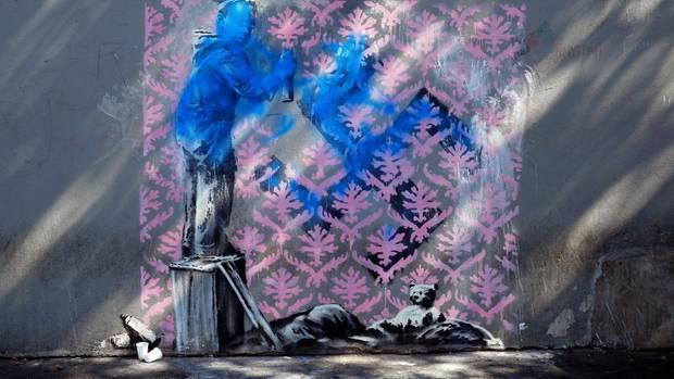 In den letzten Tagen wurden sieben Werke des Graffitikünstlers entdeckt