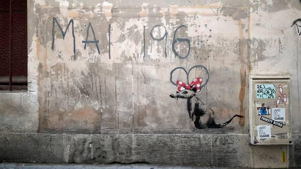 Ob die neue Street-Art tatsächlich von Banksy stammt?