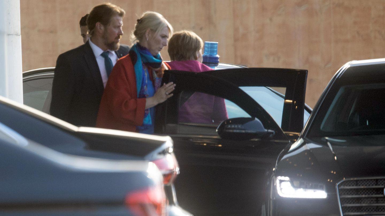 Angela Merkel erreicht das Bundeskanzleramt zum Koalitionsausschuss