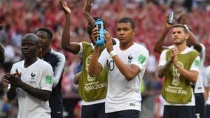 N'Golo Kante,Kylian Mbappe undLucas Hernandez aus Frankreich