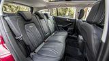 Ford Focus 1.5 Ecoboost Turnier - die hinteren Kopfstützen könnten bequemer sei, wenn sie ausgezogen sind