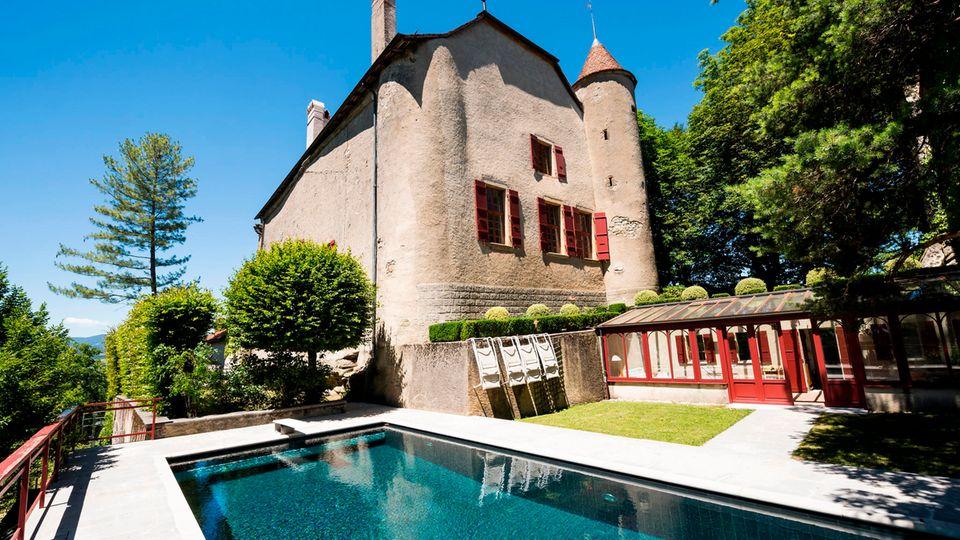 """Das Schloss """"Chateau de Bavois"""" in der Schweiz"""