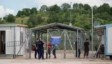 Das Erstaufnahmelager Fylakio bei Orestiadain Nordgriechenland an der Grenze zur Türkei