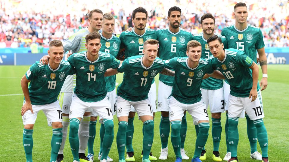 Die deutsche Elf beim letzten WM-Gruppenspiel gegen Südkorea