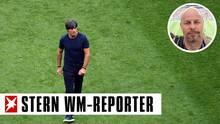 Bundestrainer Joachim Löw steht nach dem WM-Aus Deutschlands im Zentrum der Kritik