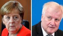 Asylstreit zwischen Bundeskanzlerin Angela Merkel (CDU) und Innenminister Horst Seehofer (CSU)