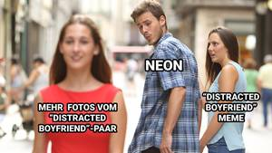 """Distracted Boyfriend""-Meme"
