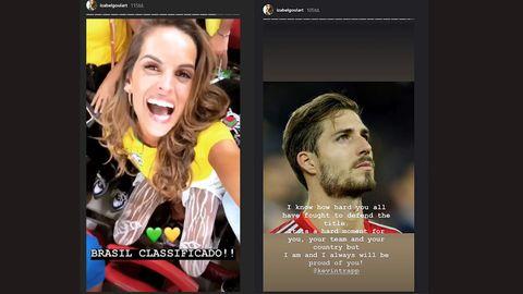 Izabel Goulart freut über das Weiterkommen der brasilianischen Mannschaft und findet tröstende Worte für ihren Freund Kevin Trapp