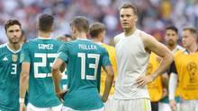 Thomas Müller und Co. nach dem WM-Aus inder Kasan-Arena