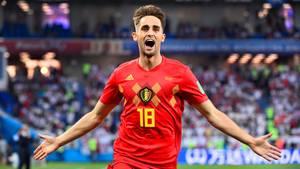 Belgien gegen England: Adnan Januzaj jubelt