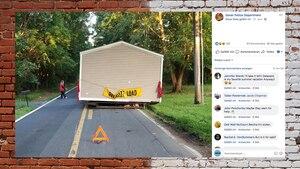 """USA: """"Das ist kein Witz"""": Polizei, weil ein Haus Mitten auf der Straße steht"""