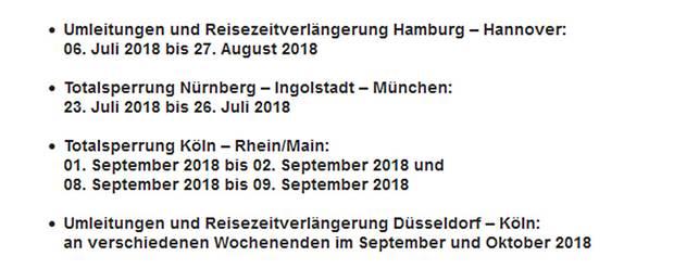 Per E-Mail hat die Deutsche Bahn ihre Kunden über die Großbaustellen während der Ferienzeit informiert.