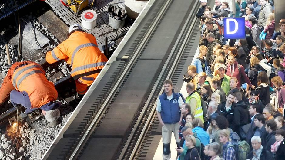 Reisen mit der Bahn kann in diesem Sommer eine langwierige Angelegenheit werden - wegen mehrerer Baustellen