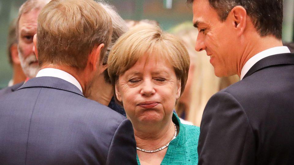 Angela Merkel in Brüssel