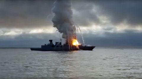 """Die Explosion an Bord der """"Sachsen"""""""