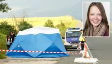 Polizisten am Fundort der Leiche von Sophia L., die seit zwei Wochen als vermisst galt