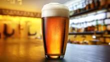 Ein volles Bierglas