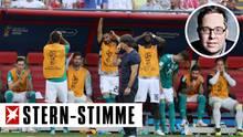 Die deutsche Bank konnte es nicht fassen, dass der DFB-Elf kein Treffer gegen Südkorea gelang
