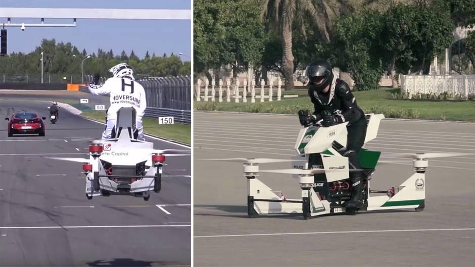 Futuristisches Transportmittel: Fliegen in der Stadt der Zukunft bald die Motorräder?