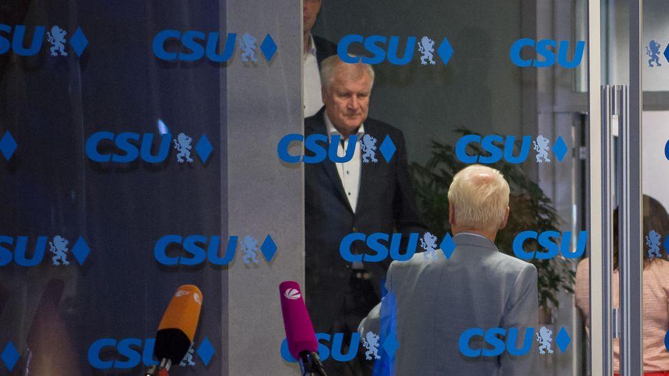 Horst Seehofer in der CSU-Zentrale
